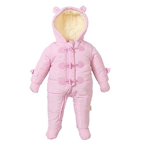 Bebone Bebone Baby Schneeanzug Jungen Mädchen Strampler Winter Babybekleidung (Rosa, 3-6 Monate)