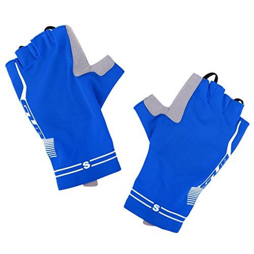 D dolity Verano transpirable bicicleta y motocicleta bicicleta guantes sporthandschuhe Gel acolchado 3ride Guantes Ciclismo guantes, color azul, tamaño small