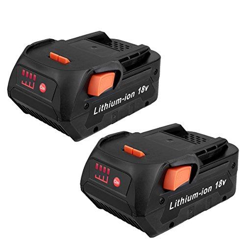 Biswaye 2 Pack 18V 6.0Ah Lithium Ion Battery Replacement for RIDGID 18V Drill Battery R840087 R840083 R840086 R840085 R840084 AC840087P AC840086 AC840085