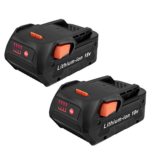 Biswaye 2 Pack 18V 4.0Ah Lithium Ion Replacement Battery for RIDGID 18V Drill R840087 R840083 R840086 R840085 R840084