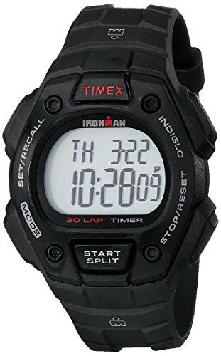 Timex Relógio Ironman Classic 30, tamanho completo, 38 mm, Cronógrafo, Detalhe preto/vermelho