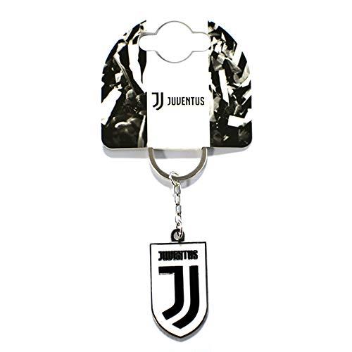 Juventus FC offizieller Wappen Schlüsselanhänger (Einheitsgröße) (Weiß/Schwarz)