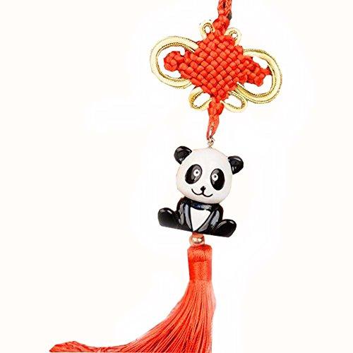 East Utopia Panda Accessoires Pendaison Ornement Voiture Pendentif à la Main Noeud Chinois