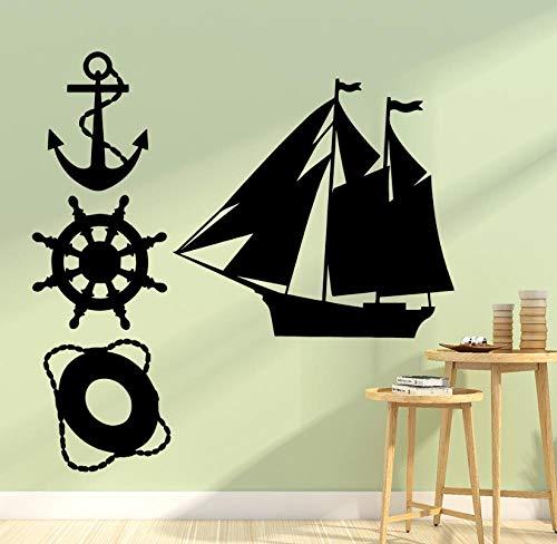 Kunststicker uitgangsdecoratie DIY muurtattoos kinderkamer vinyl exquise boot geladen kinderkamer kunst slaapkamer interieur 43X43cm