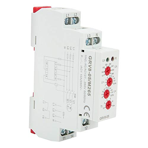 GRV8-05 Voltage Relay,3-Phase Voltage Monitoring Relay Phase Sequence Phase Failure Protection M265