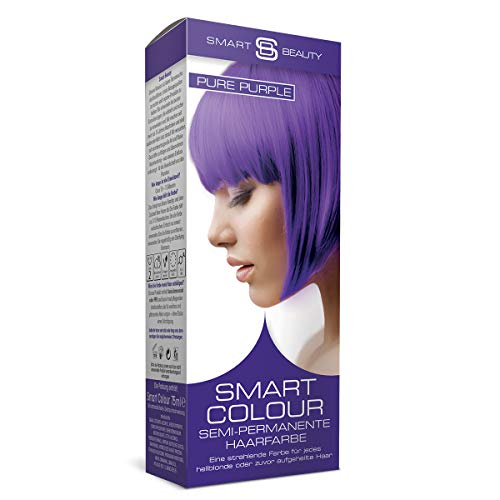 Pure Purple semi-permanente Haarfarbe |Ohne Ammoniak, Parabene, Sulfate und PPD | 100% vegan, ohne Tierversuche | Smart Beauty