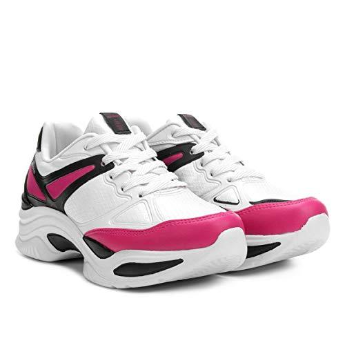 Tênis Azaleia Chunky Sneaker Feminino - Preto+pink - 34