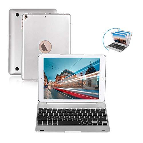 iPad Keyboard 9.7 per iPad 2018 (6° generazione) iPad 2017 (5° generazione) iPad Pro 9.7 iPad Air 2 e 1 tastiera wireless auto Sleep/Wake iPad Case con tastiera (Argento)