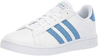 adidas Kids Unisex Grand Court (Little Kid/Big Kid) Footwear White/Real Blue/Footwear White 3 M US Little Kid