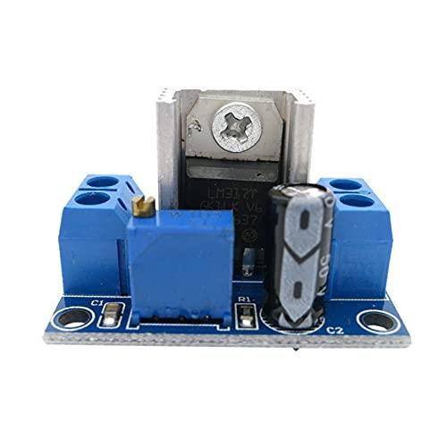JCMYSH Relaismodul LM317. Einstellbare Spannungslinearregler-Stromversorgung LM317 DC-DC 4.2-40V Bis 1.2-37V Step Down Buck Converter Board-Modul Bausatz für elektronische Komponenten