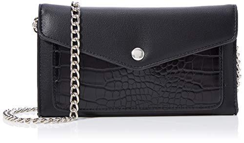 PIECES Damen Pchollyn Wallet Umhängetasche, Schwarz (Black), 1,5x11x19 cm