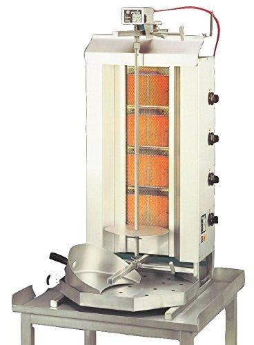 Gas-Gyrosgerät Potis GD4, 550x740x1120mm, komplett mit Fett-