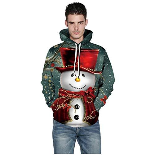 Kapuzenpullover Pullover Herren Sweatshirt mit Kapuze Winter Hoodie Mode Mädchen Weihnachten Cartoon drucken Top Sweatshirt Pullover Sweatshirt Gestrickte Kapuze Langarmpullover