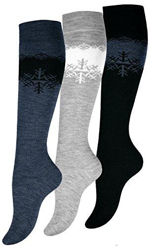 3 paia di calze termiche al ginocchio da donna, calze di alta qualità