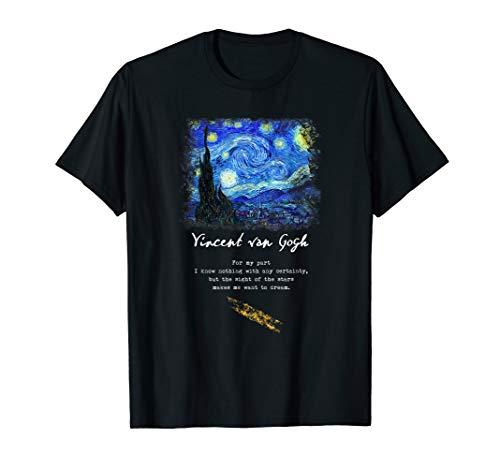 Starry Night T-Shirt. Van Gogh Gedicht Geschenk. Zitat Geschenke.