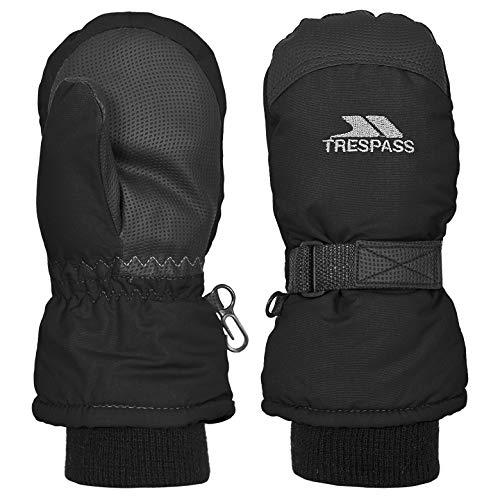 Trespass Cowa II Guantes de Nieve, Infantil, Negro, Size 2/4