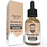 Best Beard Oil for men – Crafted Beard Oil Conditioner - Sandalwood Bourbon Scent – All Natural Beard Oil and Mustache Oil – Quick Absorption – Made in the USA (SB)