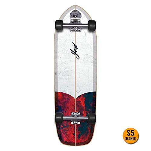 YOW Chiletto Skateboard, 33 Zoll, The First Surfskate, Unisex, Mehrfarbig (Mehrfarbig)