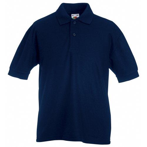 Fruit of the Loom Boys Shirt blue Dunkles Marineblau 5 6 Years