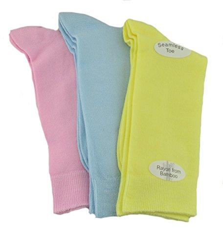 Sierra Socks Womens Rayon From Bamboo 3 Pair Pack Crew Super Soft Socks 2181