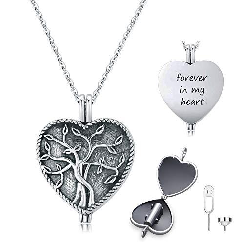 Urn ketting voor as S925 Sterling zilveren boom van het leven Urn hanger crematie sieraden Memorial Keepsake sieraden geschenken voor vrouwen mannen