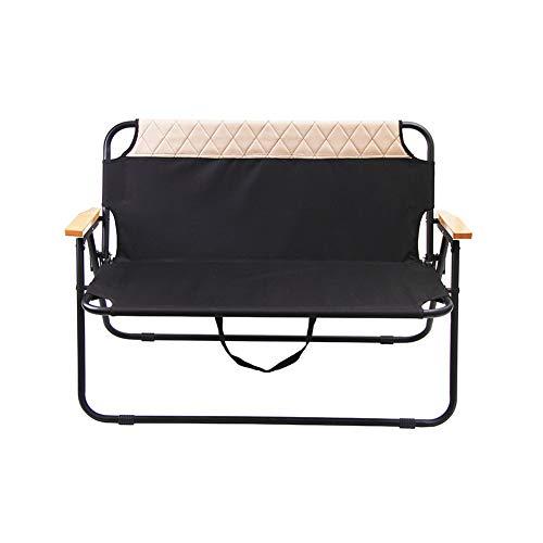 无 Doppelklappstuhl, tragbare Picknickbank zum Angeln, Leichter klappbarer Gartencampingstuhl, Oxford-Stoff, Rückenlehnen-Strandkorb, Kapazität 200 kg