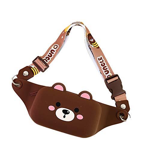 Kinderrucksack, Tiny Backpack Ergonomischer Schulrucksack, Kleiner Tagesrucksack für den Kindergarten, Kinder Mini Rucksack Organisationstalent (YB-Brown)
