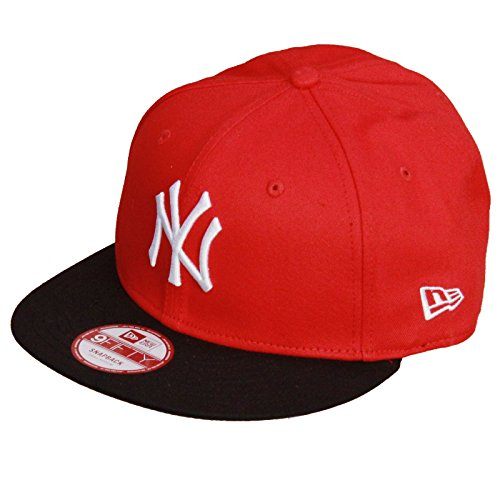 New Era Herren Baseball Cap Mütze MLB 9 Fifty Block NY Yankees Snapback, Scarlet/Black/White, M/L, 10879530