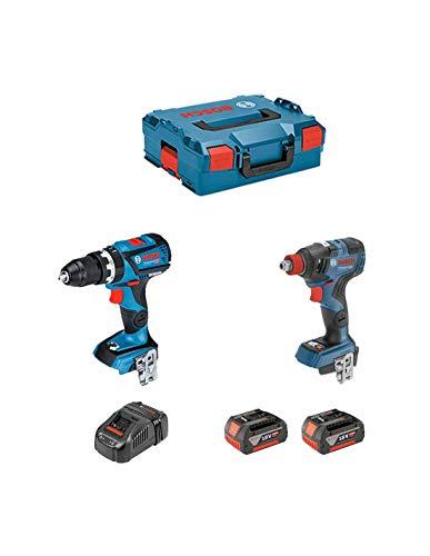 BOSCH Kit GSB 18V-60C + GDX 18V-200C (2 x 5,0Ah + GAL1880CV + L-Boxx 136)