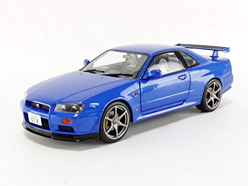 Solido S1804301 1:18 Nissan GT-R (R34) -Bayside Blue