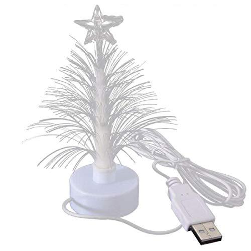 NCTP USB Power Muti-Colour Desk Glowing Sucker Fiber LED Christmas Tree LED Light Glowing Lights for 5 INCH Mini 7 Colors Fiber Optic Christmas Tree Christmas Xmas Holiday Decoration