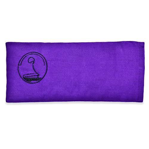 KlarGeist - Cuscino per occhi alla lavanda, colore: lilla
