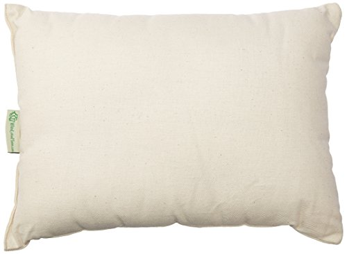 White Lotus Home OBWWSP01 100% Buckwheat and Wool (Buckwool) Sleep Pillow with Organic Twill Outer Case, 12x16 Travel, Natural
