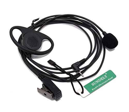 SUNDELY D-Shape Earpiece/Headset Boom Mic with VOX/PTT for Cobra Micro-Talk 2 Two Radio Walkie Talkie 1-pin