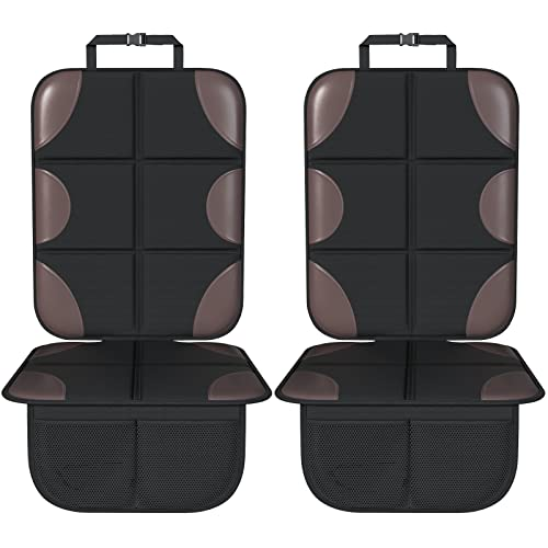 Smart eLf Car Seat Protector, Thickest Padding Seat Protector Carseat with Waterproof Fabric, 2 Pack Carseat Protectors Mat for Vehicles SUV, Sedan, Truck, Leather and Fabric Car Seat, Large Size