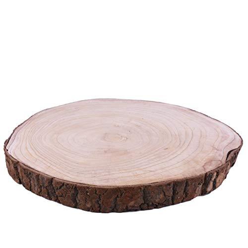 Dadeldo Home Baumscheibe -Raw- Holz 40x40cm Natur Dekoration