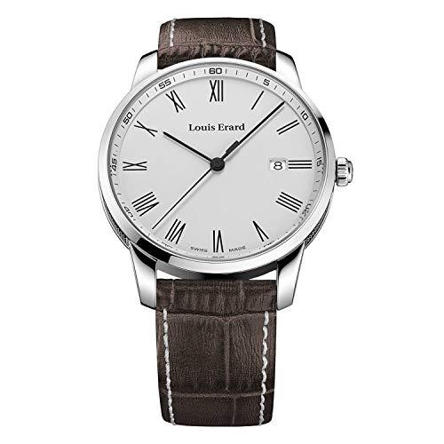 Louis Erard Heritage Collection 17921AA21.BEP101 - Reloj para hombre (acero inoxidable, correa de piel marrón
