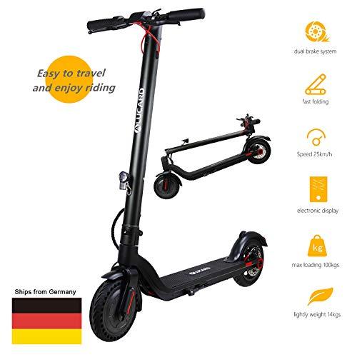 OBEST Electro Scooter Folding, 8,5-Zoll-2-Rad-Fahrrad für Erwachsene mit Taschenlampe, 20 km Reichweite, nur 14.5kg, 100kg, Mit Beleuchtung, Klappbar