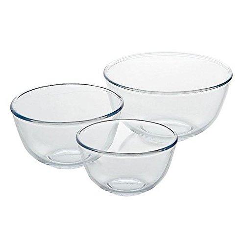 Pyrex Mixing Bowl Glass Set, 0.5L/1.0L/2.0L