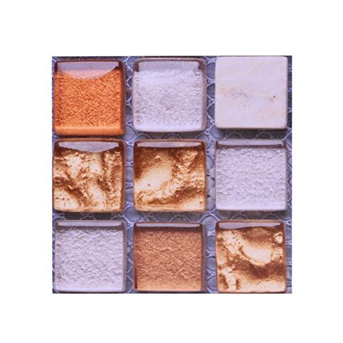 10 unids mosaico auto adhesivo baldosas espalda placa pegatina de pared 3d impermeable impermeable vinilo papel decoración de bricolaje cuarto de baño cocina decoración del hogar ( Color : B16 )