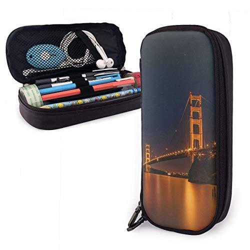 Schlampermäppchen,Schulmäppchen für Schreibwaren Federtasche Federmappe Golden Gate Bridge