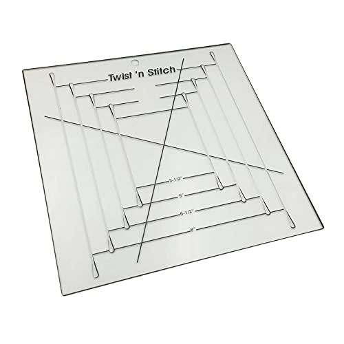 F Fityle Plantilla de Acolchado de Acrílico Patrón Geométrico de Patchwork de Edredón de Elaboración de Bricolaje