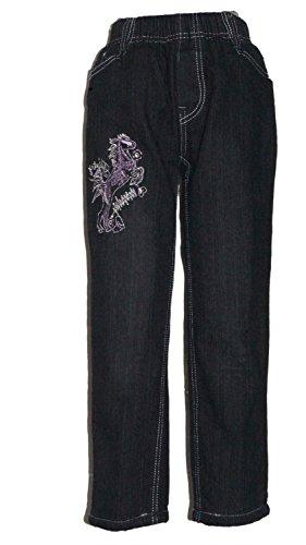 K & S Thermojeans Thermo Hose Jeans Mädchen warm gefüttert Winterhose viele Grössen, Grösse Bekleidung:98/104;Farbe:Schwarz