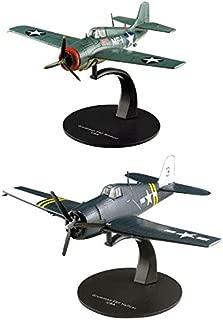 OPO 10 - Juego de 2 Aviones de Combate GRUMMAM (F6F Hellcat + F4F Wildcat) 1/72 (AC13 + AC18)
