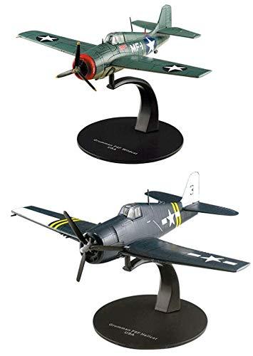 OPO 10 - Set mit 2 Kampfflugzeugen GRUMMAM (F6F Hellcat + F4F Wildcat) 1/72 (AC13 + AC18)