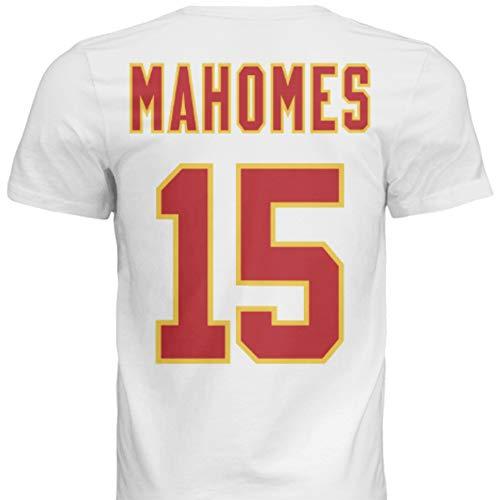 NWT New Mahomes #15 Kansas City White Custom Screen Printed Football T-Shirt Jersey No Brands/Logos Men's (2XL)