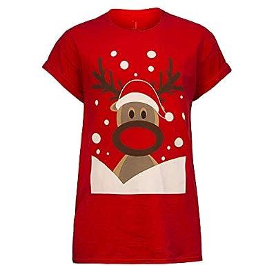 Sufeng Mens Womens Christmas Unisex Printing Tees Shirt Short Sleeve T Shirt Blouse