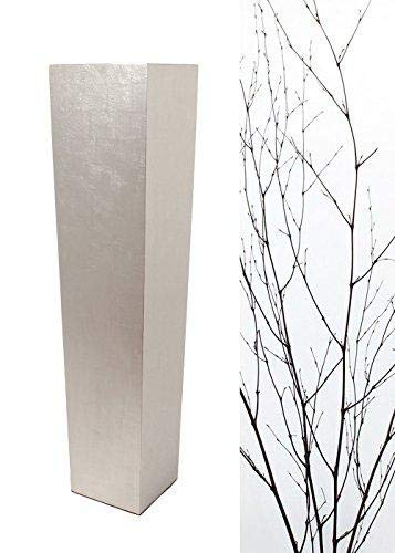 Green Floral Crafts | 36'' Tapered Tall Floor Vase - Solid Silver