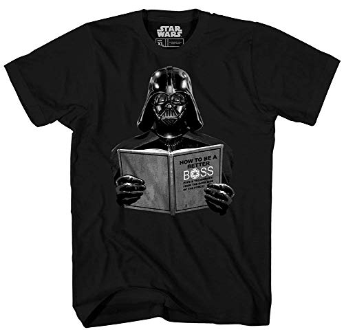 Star Wars Darth Vader Dark Side Empire Funny Humor Pun Adult Men's Graphic Tee T-Shirt (Black, Large)
