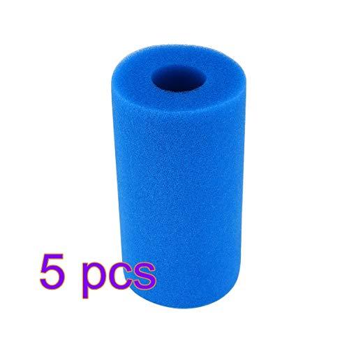 ABEDOE Filterschwamm, Intex Typ A-Patronenschwamm, wiederverwendbarer, waschbarer Swimmingpool-Filterschaumpatronen-Schwammfilter-Reinigungswerkzeug